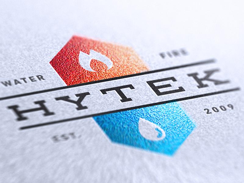 Hytek Potential Logo logo print orange blue water fire alex sheyn bbg