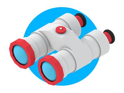 Binoculars cinema 4d c4d alex sheyn render 3d illustration