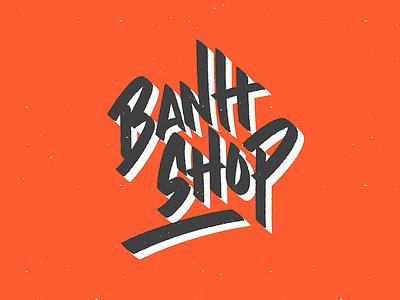 Banh Shop logo lettering type street vietnam food restaurant branding brush