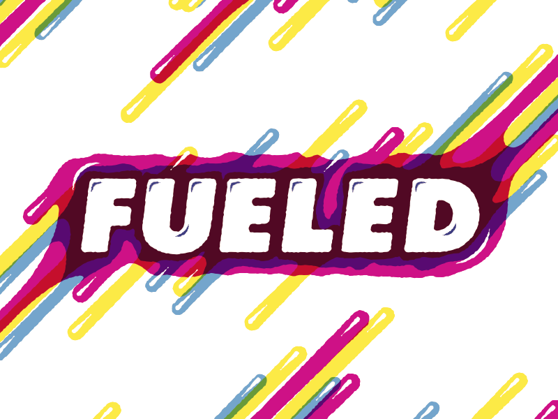 Fueled fuel drip typography illustration cmyk wet pattern texture
