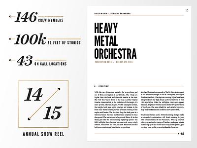 Golden Era wip typography layout editorial gold silver bold serif alex sheyn bbg