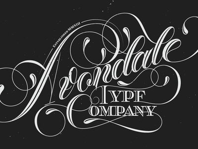 Avondale Type Company design type swashes logo alex sheyn hand old school lettering atc avondale type co.