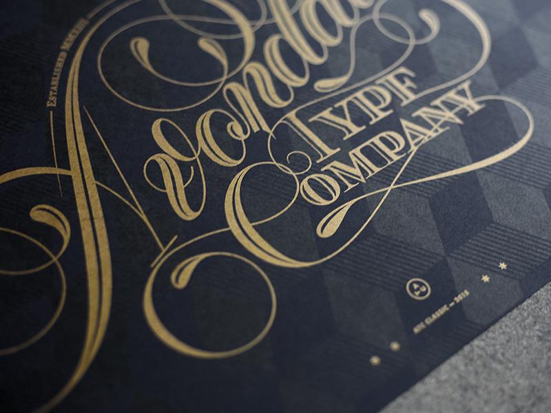 Avondale Type Co Risograph alex sheyn design ink contrast type lettering poster black gold avondale print riso