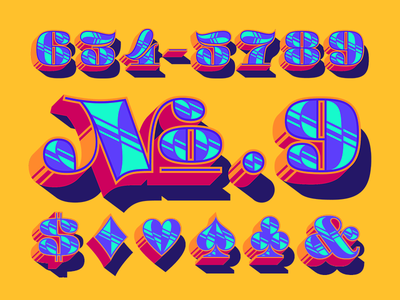ATC Fritz color dimension layers numbers numerals type typeface design new font font avondale type co
