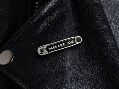 """Here For You"" Enamel Pin"