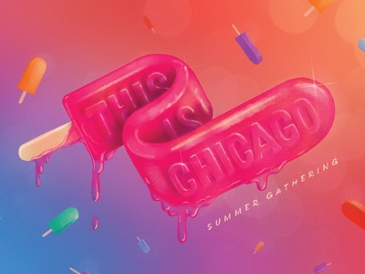 This Is Chicago: Summer Gathering texture drawing melty gradient popsicle illustration drip