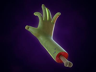 Handy gore severed halloween hand render design c4d 3d animation cinema 4d alex sheyn
