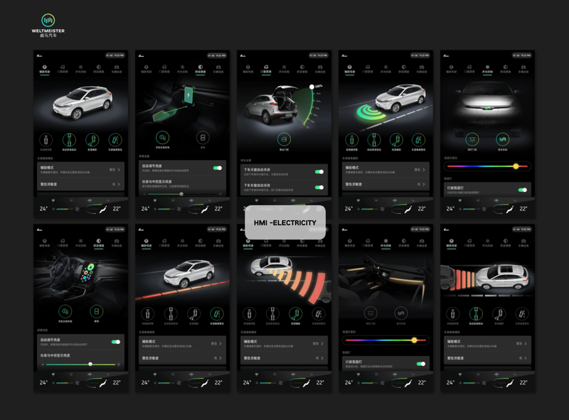 HMI-Vehicle control(WM) art automotive autopilot driving ux screen car hmi design ui