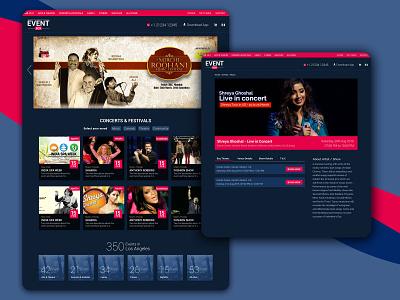 Event website UI Design graphic design ux ux design ui design website design