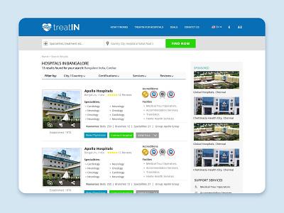 Healthcare hospital listing website web portal website design web design web ux ui ux design ui design