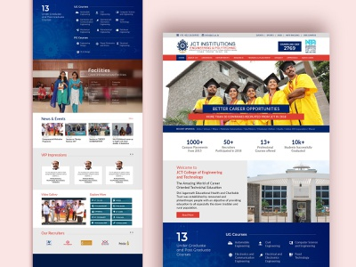 Education / College Web design wordpress website design ux design ui design web design webdesign education website