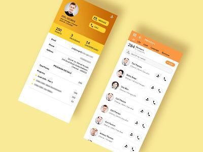 Mobile app UI UX design - User management corporate design ui ux design user management mobile app design