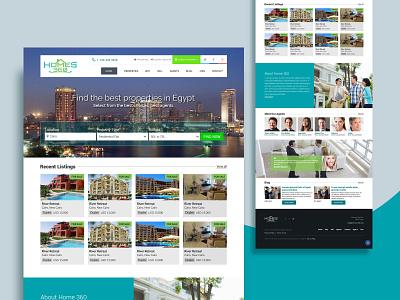 Property listing website website design real estate property