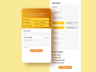 Employee management Mobile app UI design mobile app ux design ui design