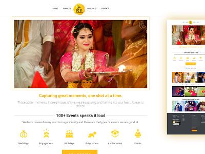 Wedding photography portfolio wordpress design website design ui design web design