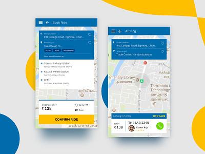 Taxi booking app - Mobile UI UX design mobile app ux design ui design uxdesign