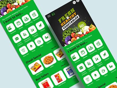 UI UX Design for shopping app ux design ui design mobile app mobile ui