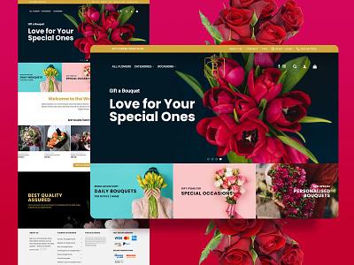 eCommerce website for Flower shop web design ux design ux ui design uidesign