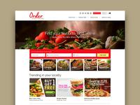 Online Order Web UI Design