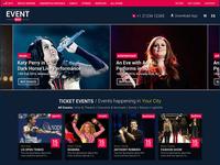 Event Web App UI UX Design