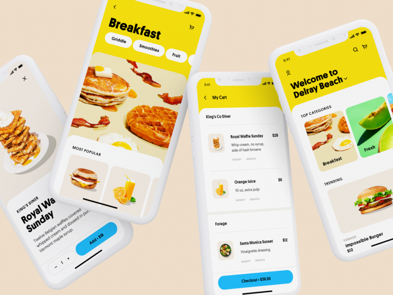 Funday App 1 minimal uiux app ui product checkout dashboard delivery app