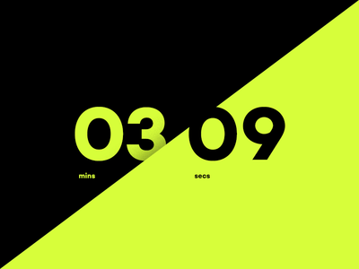 Daily UI #014 Countdown Timer numbers bold clean minimal timer countdown 014 dailyui daily ui