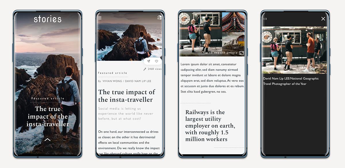 Stories mobile mock dribble