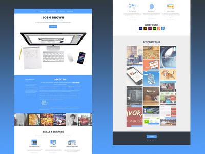 My Portfolio Site blue portfolio icons