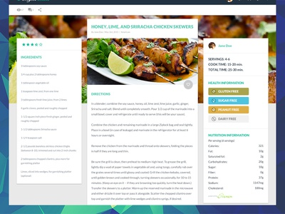 Recipe Page material recipe food mobile first