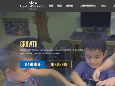 Cardinal Services Site Design services indiana kids donate non-profit