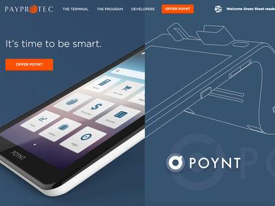 Poynt smart terminal wireframe blue payprotec poynt