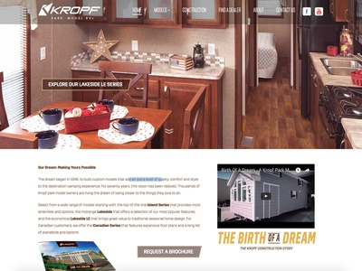 Kropf Industries Redesign series models retirement dream small home explore