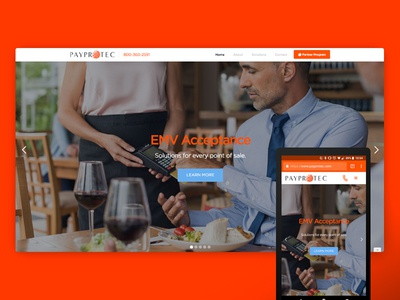 New PayProTec.com launch slider webflow site web website responsive payprotec new