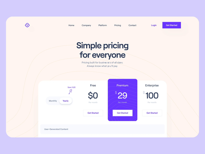 SaaS: Pricing Page price webdesign playful modern faq sticky header pricing animation pricing animation landing page animation pricing page