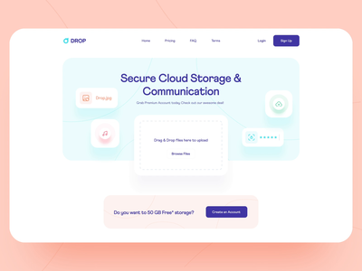 Landing Page Hero: Upload Animation landing page design cloud storage file transfer landing upload landing transfer landing transfer file uploader modern landing page ui landing hero upload file upload uploading upload animation landing page