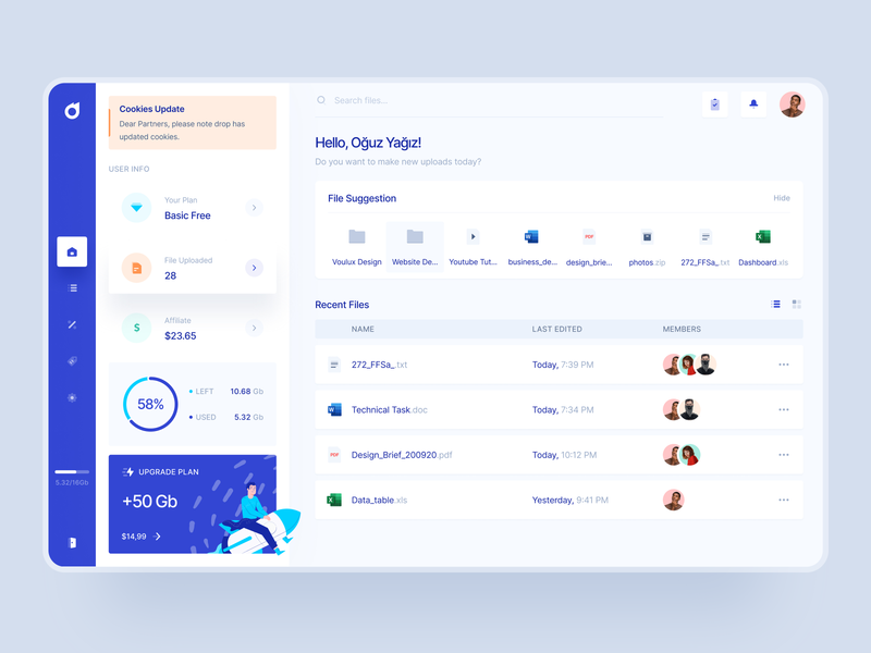 Drop: Cloud Dashboard