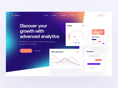 Hero Animation: Landing Page chart gradient color gradient stripe analytics dashboard saas design landing page saas landing page saas animation saas animation