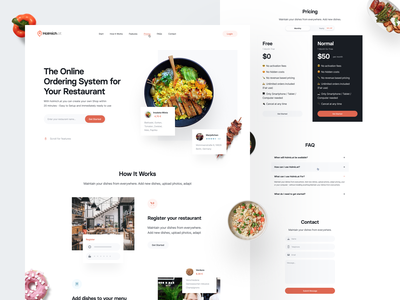 Landing Page: Holmich.at landing page design colorful website ui landing page food landing page food delivery food saas foodie food app food landing