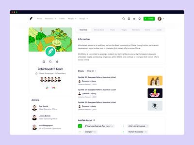Haystack: Group Details group layout layout dashboard design profile sidebar header dashboard modern ui page group app saas