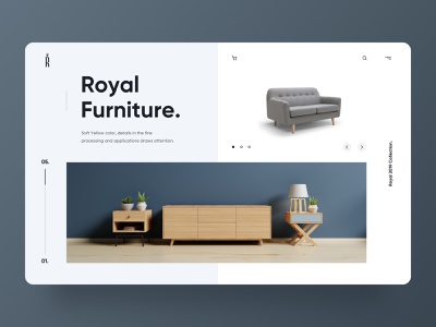 Royal Furniture Concept furniture design furniture store royal ui concept ui furnutire