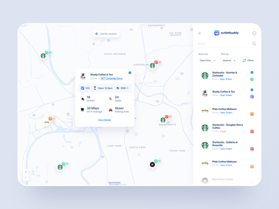 Dashboard Map View - Detail animation ux ui ux outlet buddy list view detail page detail web app design dashboard app dashboard design dashboard ui map dashboard dashboard map view