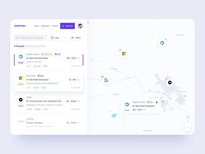 Find Job Web App - Dashboard UI