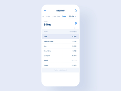 Tracking App Table - Animation track app tracking app ikas mobile app animation animation list mobile ui app mobile app mobile list mobile table table