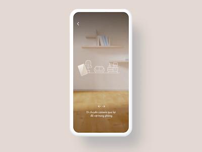 Furniture app using AR eccomerce ar interaction 3d furniture store furniture aftereffect app ui ux design animation
