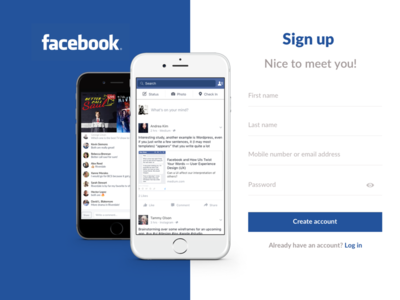 Facebook redesign sign up page dailyui by thomas debelder dribbble facebook redesign sign up page dailyui stopboris Image collections