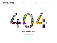 Watch Dogs 2 | 404 error page #dailyui
