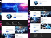 ADAS Partners futuristic ui landing page mobile product design landingpage website blue web design mechanic cars driving neon web design ui ux typography branding clean minimal