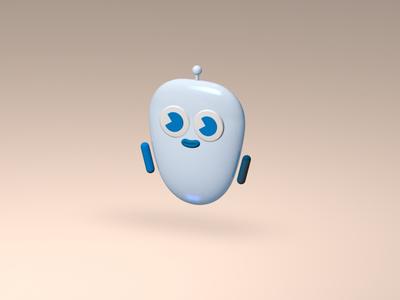 WeTek Mascot tv robot tech mascot 3d