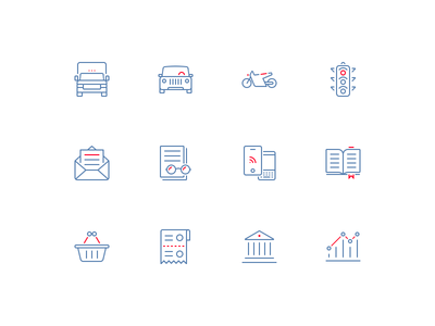 Set of big icons for VTB24