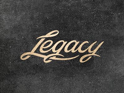 Legacy type script type lettering wood black legacy